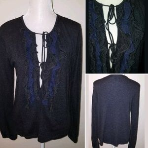 Vera Wang sweater cardigan womens size Large L